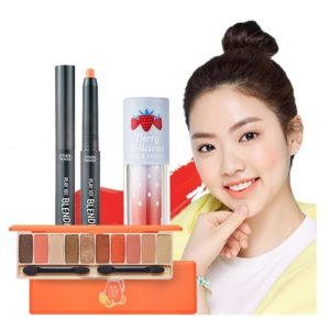 ETUDE HOUSE EYE SHADOW SET JUICY PEACH MAKEUP LOOK KIT (JUICEBAR+BLENDINGPENCIL 30+LIPOR210)