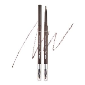ETUDE HOUSE EYEBROWS DRAWING SLIM EYEBROW 1.5MM_SLIM #1 DARK BROWN