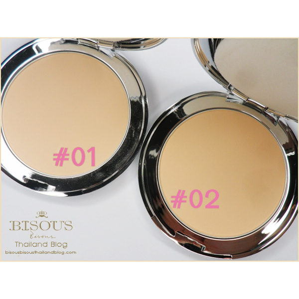 Bisous Pink Martini Diamond Powder Pact Q10 Vitamin B3 SPF25 PA #1