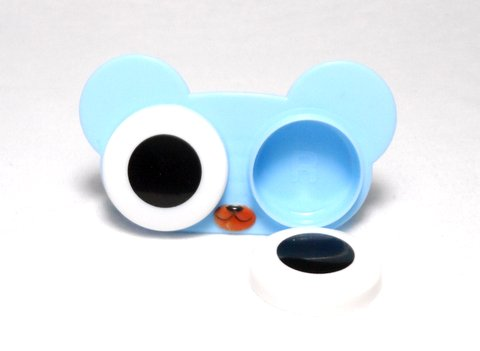 Big Eyes Animal Zoo Blue Bear Contact Lens Case