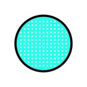 DUEBA FANCY CYAN MESH BLACK RIM HALLOWEEN COLOR LENS