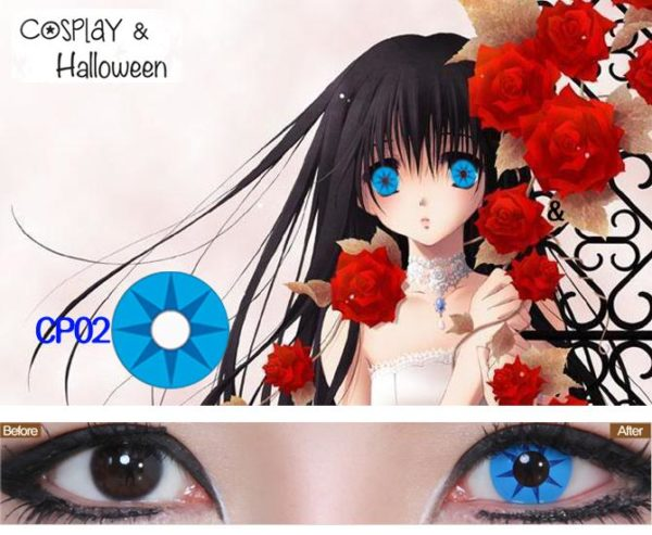 DUEBA COSPLAY LENS BLUE STAR HALLOWEEN COLOR LENS