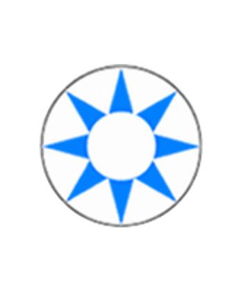 DUEBA COSPLAY LENS BLUE SUN WHITE HALLOWEEN COLOR LENS