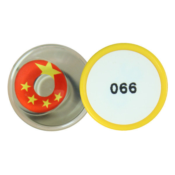 DUEBA COSPLAY LENS CHINA FLAG HALLOWEEN COLOR LENS
