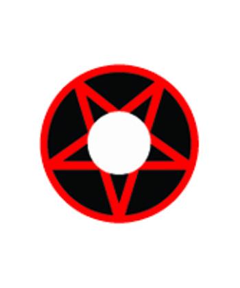 DUEBA COSPLAY LENS VOODOO RED STAR BLACK HALLOWEEN COLOR LENS