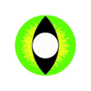 DUEBA COSPLAY LENS GREEN DRAGON EYES HALLOWEEN COLOR LENS