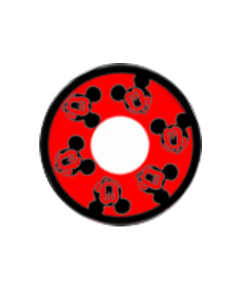 DUEBA COSPLAY LENS RED MICKY MOUSE HALLOWEEN COLOR LENS