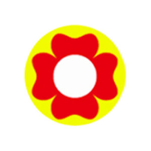 DUEBA COSPLAY LENS RED FLOWER YELLOW HALLOWEEN COLOR LENS