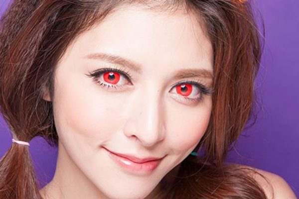 DUEBA COSPLAY LENS RED HALLOWEEN COLOR LENS