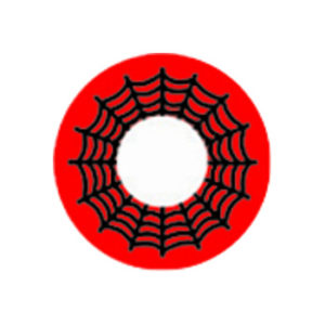 DUEBA COSPLAY LENS RED SPIDER WEB HALLOWEEN COLOR LENS