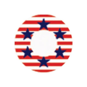 DUEBA COSPLAY LENS USA FLAG HALLOWEEN COLOR LENS