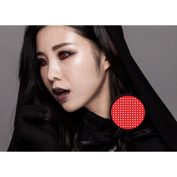 DUEBA FANCY RED MESH BLACK RIM HALLOWEEN COLOR LENS