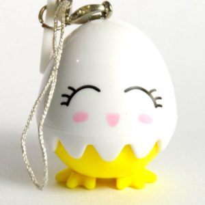 COLOR LENS CASE SMILING FACE EGG MOBILE PHONE ORNAMENT