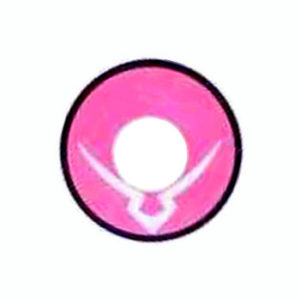 GEO CRAZY LENS CP-A8 PINK POWER RANGER HALLOWEEN COLOR LENS