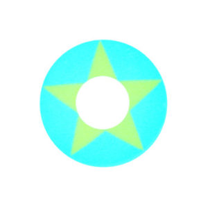 GEO CRAZY LENS SF-03 BLUE YELLOW STAR HALLOWEEN COLOR LENS