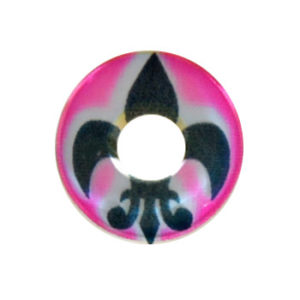 GEO CRAZY LENS SF-28 PINK FLEUR DE LYS HALLOWEEN COLOR LENS