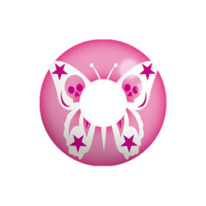 GEO CRAZY LENS  SF-29 PINK BUTTERFLY SKULL HALLOWEEN COLOR LENS