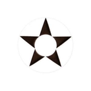 GEO CRAZY LENS SF-32 WHITE IRIS BLACK STAR HALLOWEEN COLOR LENS