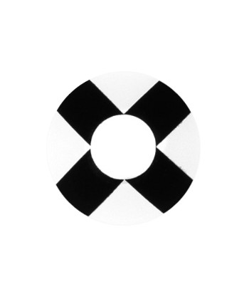 GEO CRAZY LENS SF-44 BLACK CROSS HALLOWEEN COLOR LENS