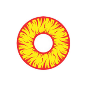 GEO CRAZY LENS SF-01 YELLOW RED HALLOWEEN COLOR LENS