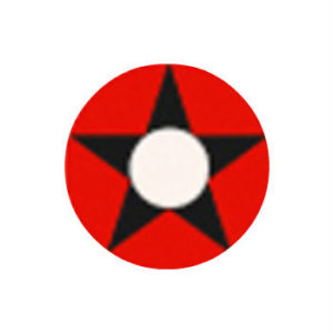 GEO CRAZY LENS SF-27 RED BLACK STAR HALLOWEEN COLOR LENS