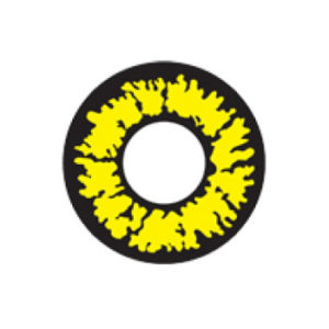 GEO CRAZY LENS SF-73 FIERY YELLOW HALLOWEEN COLOR LENS