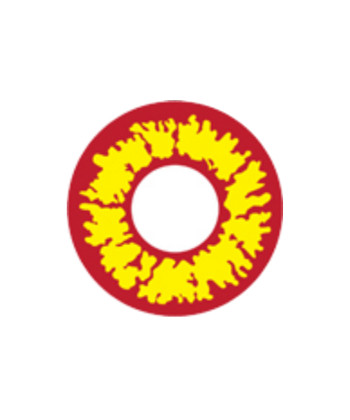 GEO CRAZY LENS SF-74 DEVIL RED YELLOW HALLOWEEN COLOR LENS