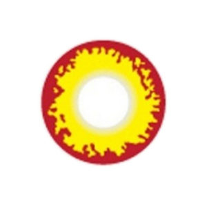 GEO CRAZY LENS SF-75 FLAME YELLOW RED HALLOWEEN COLOR LENS