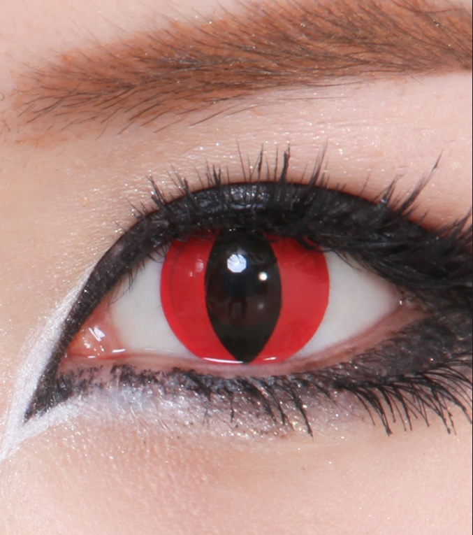 CONTACT LENS GEO CRAZY LENS SF-R05 RED HALLOWEEN COLOR ...