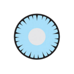 GEO CRAZY LENS SF-14 BLUE SPIKED ANIMATION HALLOWEEN COLOR LENS