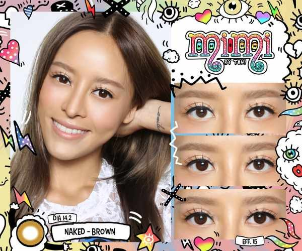 MIMI NAKED BROWN COLOR LENS