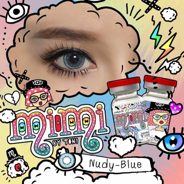 MIMI NUDY BLUE COLOR LENS