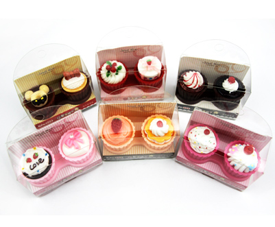 Cupcake Contact Lens Case Red Fruit