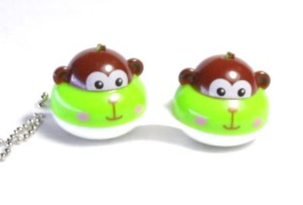 Contact Lens Case Keychain Monkey
