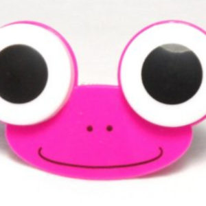 Big Eyes Animal Zoo Pink Frog Contact Lens Case