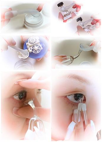 Meruru Tweezers Easily Insert Remove Color Lens without Fingers by Meditrek Inc