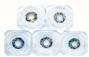 VASSEN DIAMOND 3 TONE HAZEL COLOR LENS