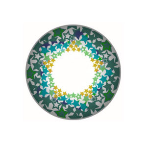 VASSEN TWINKLE STAR GREEN COLOR LENS