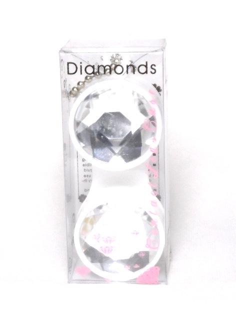 Keychain Diamond White Contact Lens Case